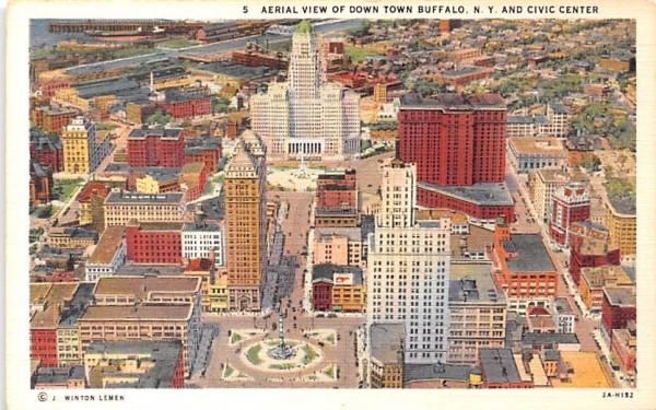 Downtown Buffalo, New York Postcard