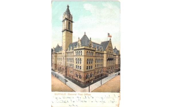 General Post Office Buffalo, New York Postcard