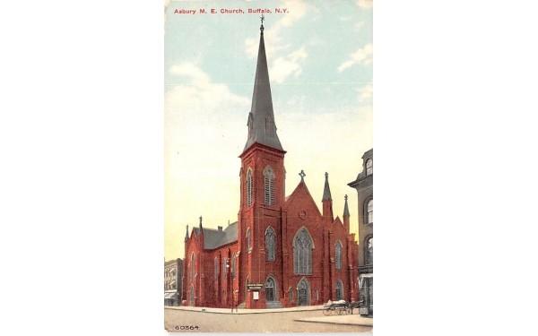 Asbury ME Church Buffalo, New York Postcard
