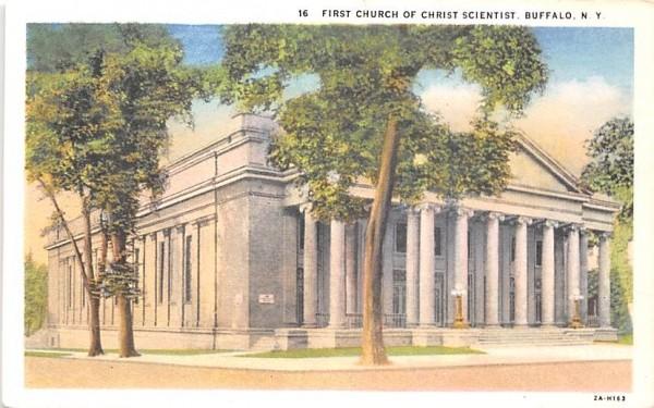First Church of Christ Scientist Buffalo, New York Postcard