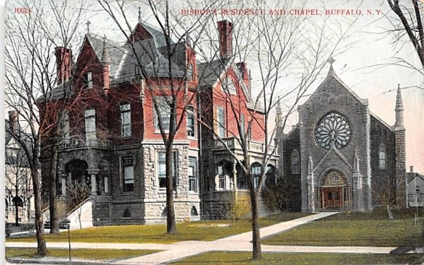Bishop's Residence & Chapel Buffalo, New York Postcard