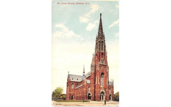 St Louis Church Buffalo, New York Postcard