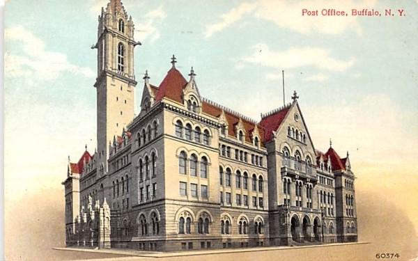 Post Office Buffalo, New York Postcard
