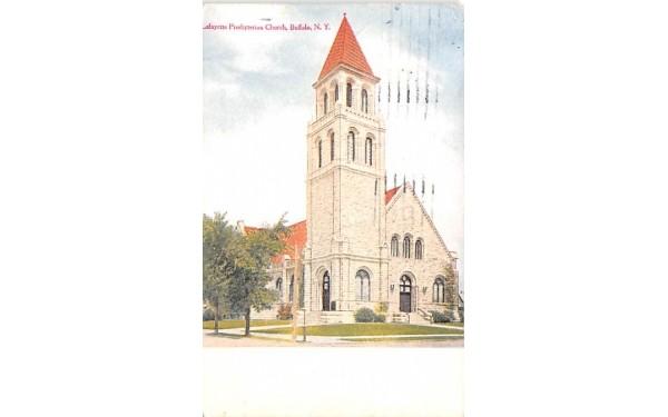 Lafayette Presbyterian Church Buffalo, New York Postcard