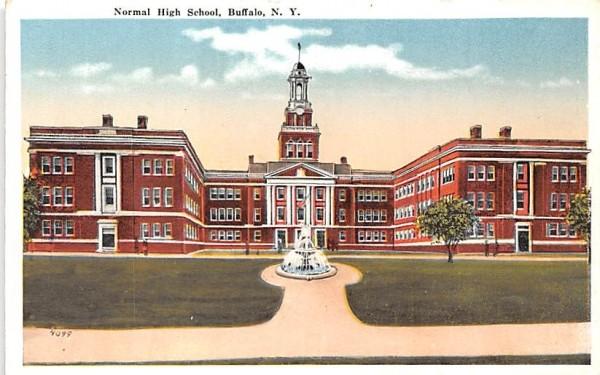 Normal High School Buffalo, New York Postcard