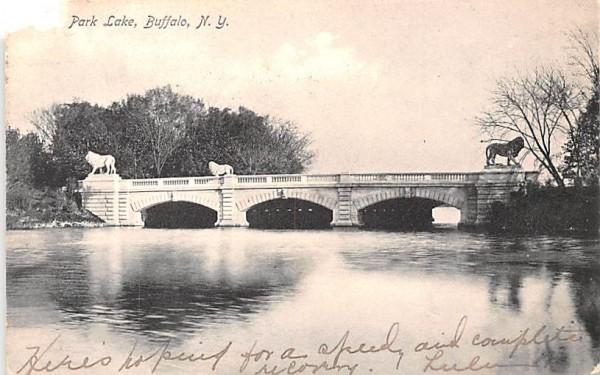 Park Lake Buffalo, New York Postcard