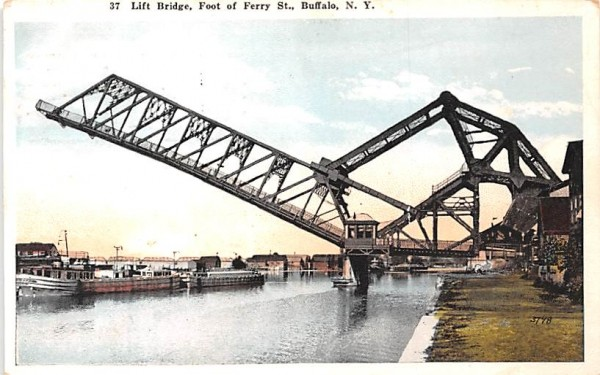 Lift Bridge Buffalo, New York Postcard