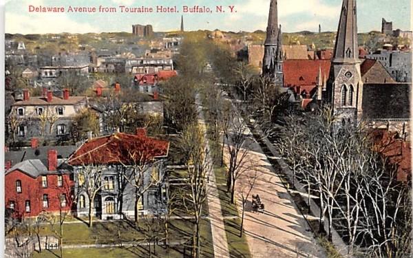 Delaware Avenue Buffalo, New York Postcard