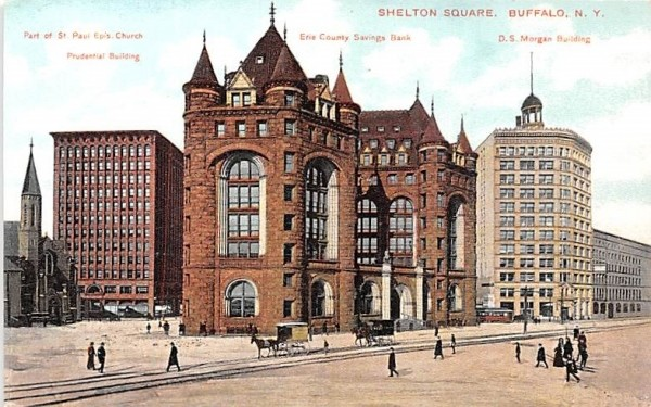 Shelton Square Buffalo, New York Postcard
