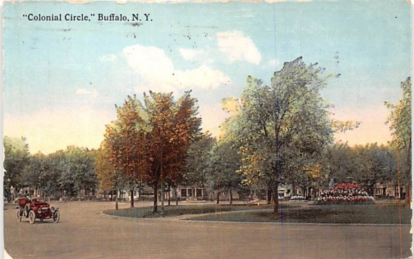 Colonial Circle Buffalo, New York Postcard