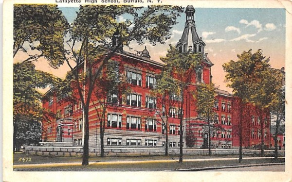Lafayette High School Buffalo, New York Postcard