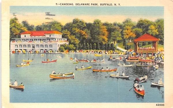 Canoeing Buffalo, New York Postcard