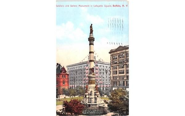 Soldiers & Sailors Monument Buffalo, New York Postcard