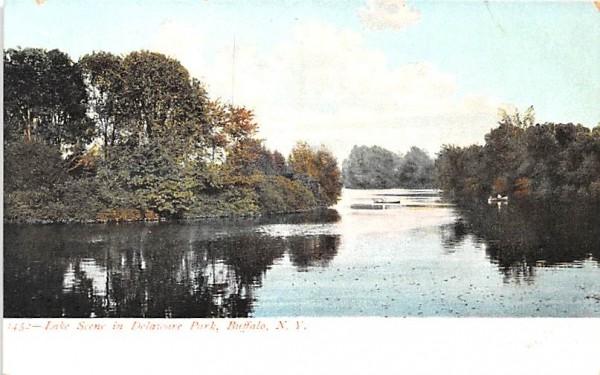 Lake Scene Buffalo, New York Postcard