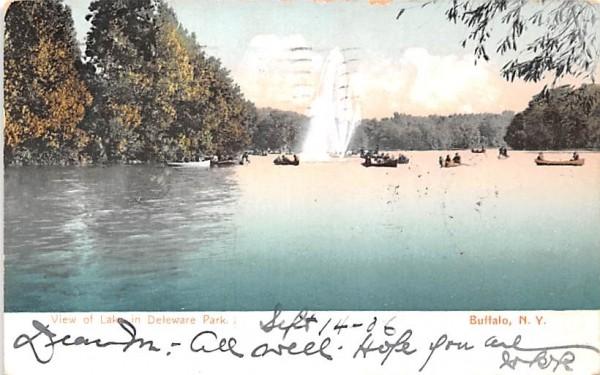 View of the Lake Buffalo, New York Postcard