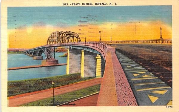 Peace Bridge Buffalo, New York Postcard