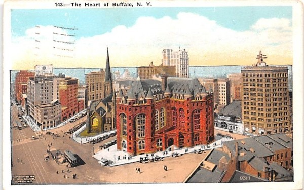 The Heart Buffalo, New York Postcard