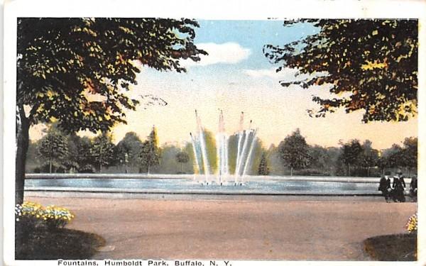 Fountains Buffalo, New York Postcard