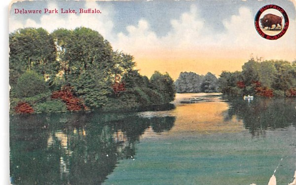 Delaware Park Lake Buffalo, New York Postcard