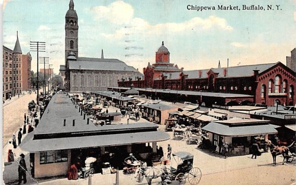 Chippewa Market Buffalo, New York Postcard