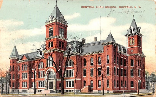 Central High School Buffalo, New York Postcard