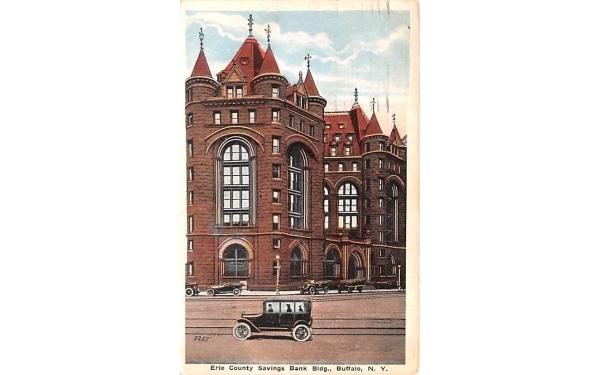 Erie County Savings Bank Buffalo, New York Postcard
