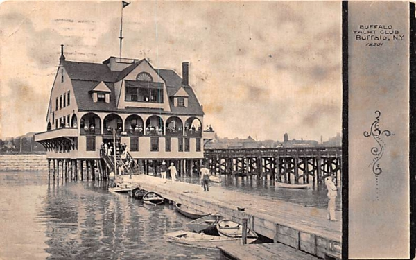 Buffalo Yacht Club New York Postcard