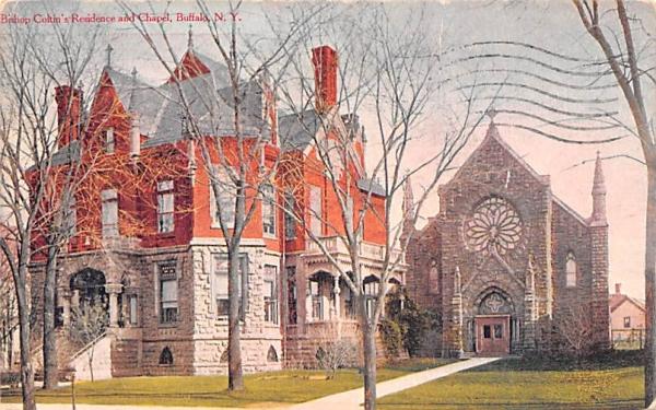 Bishop Coltin's Residence & Chapel Buffalo, New York Postcard