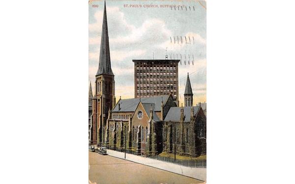 St Paul's Church Buffalo, New York Postcard