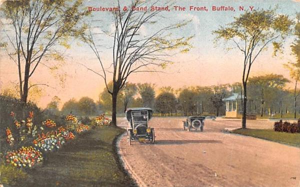Boulevard & Band Stand Buffalo, New York Postcard