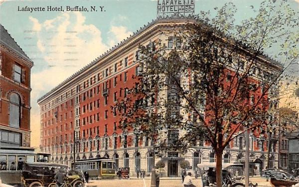 Lafayette Hotel Buffalo, New York Postcard