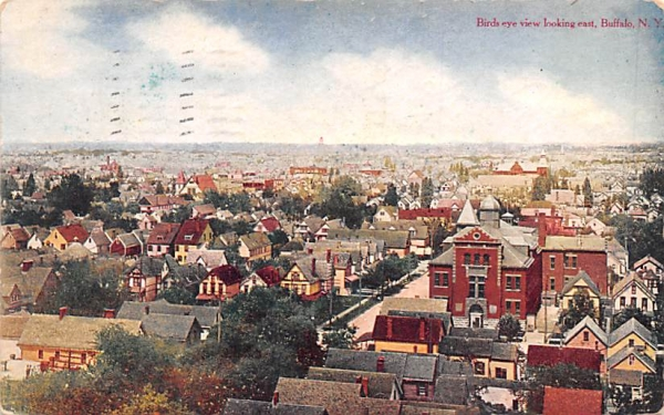 Bird's Eye View Buffalo, New York Postcard