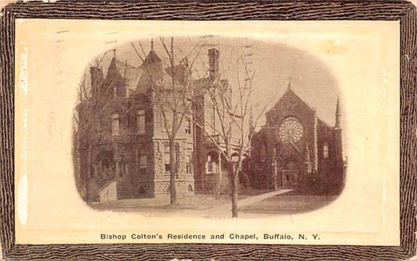 Bishop Colton's Residence & Chapel Buffalo, New York Postcard