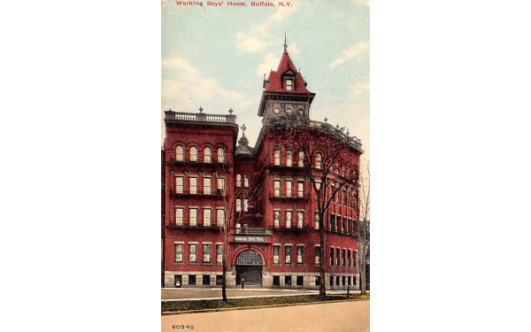 Workign Boys' Home Buffalo, New York Postcard