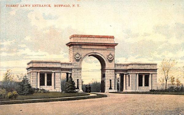 Forest Lawn Entrance Buffalo, New York Postcard
