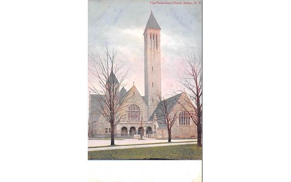 First Presbyterian Church Buffalo, New York Postcard