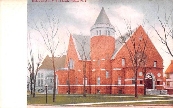 ME Church Buffalo, New York Postcard