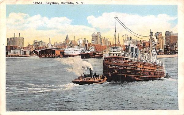 Skyline Buffalo, New York Postcard