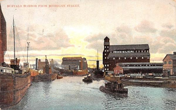 Buffalo Harbor New York Postcard