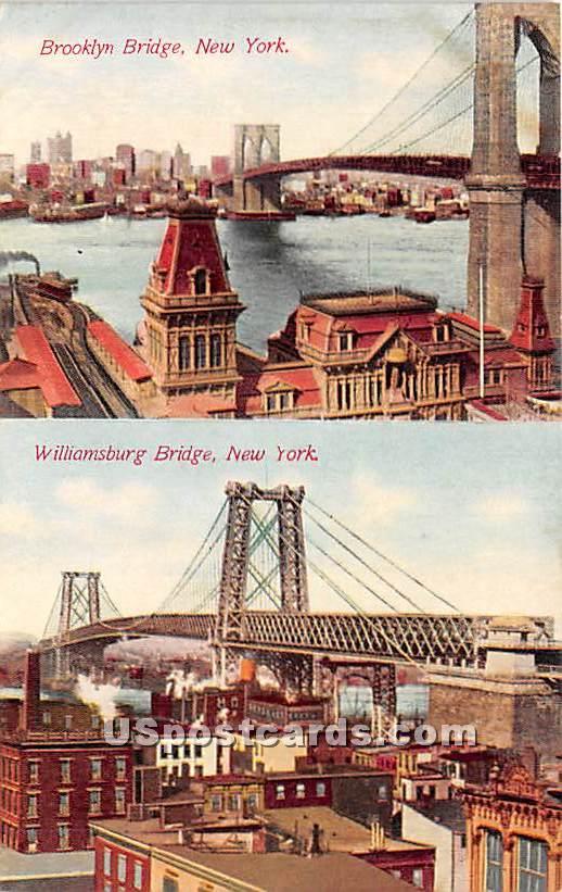 Brooklyn Bridge - New York NY Postcard
