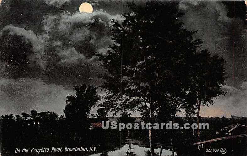 Kenyetto River - Broadalbin, New York NY Postcard