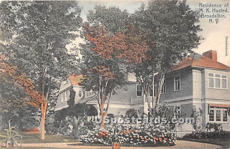 Residence of MK Husted - Broadalbin, New York NY Postcard