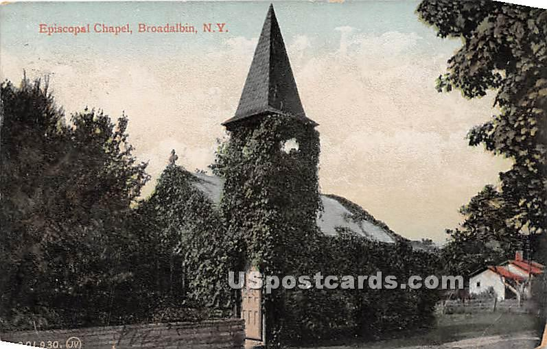 Episcopal Chapel - Broadalbin, New York NY Postcard