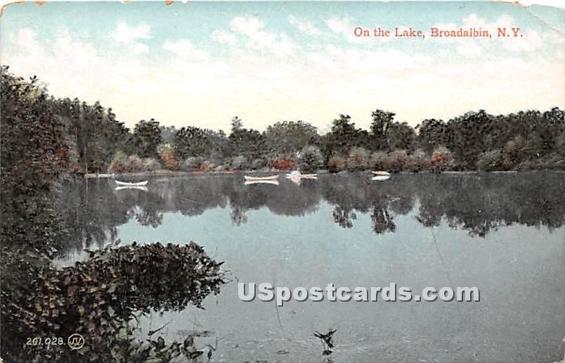 Lake - Broadalbin, New York NY Postcard