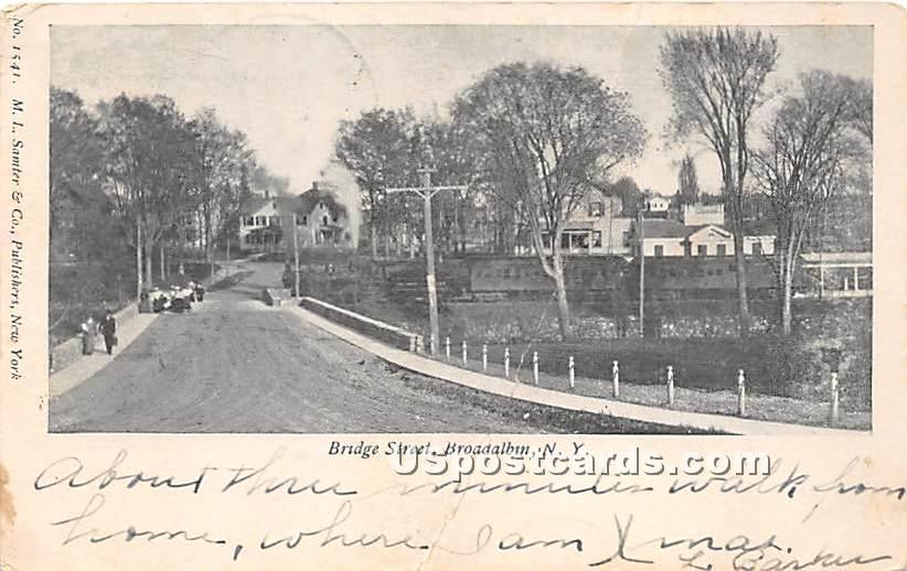 Bridge Street - Broadalbin, New York NY Postcard