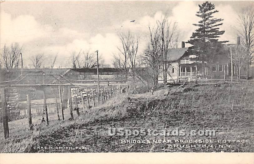 Bridges, Brookside Cottage - Brushton, New York NY Postcard