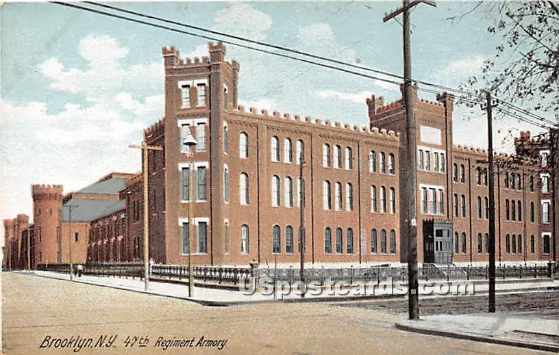 47th Regiment Armory - Brooklyn, New York NY Postcard