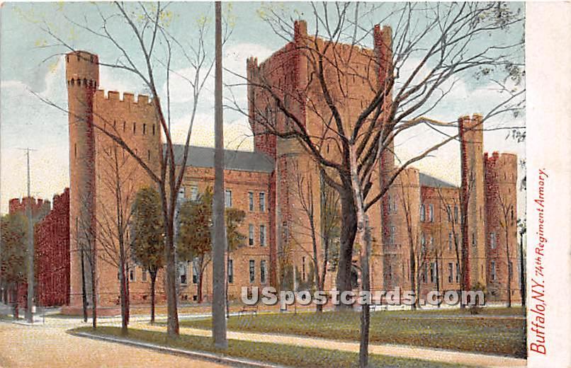 74th Regiment Armory - Buffalo, New York NY Postcard