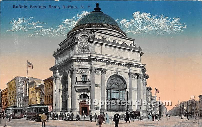 Buffalo Savings Bank - New York NY Postcard