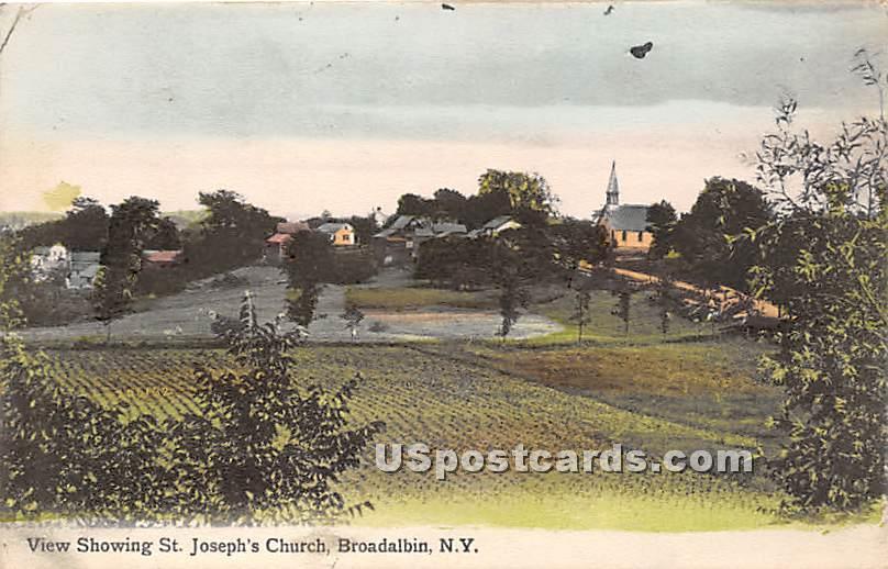 St Joseph's Church - Broadalbin, New York NY Postcard